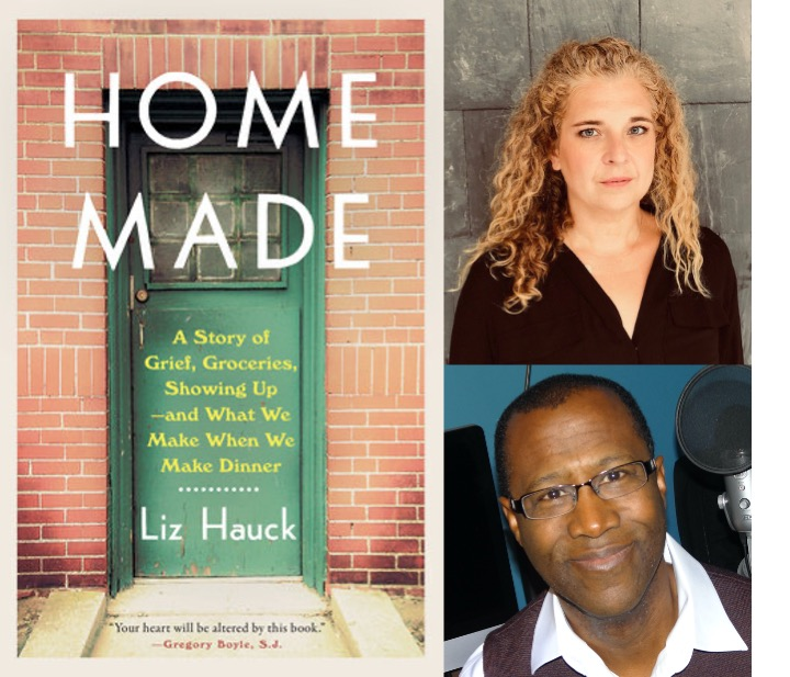 Book cover for Home Made with a photo of the author and the interviewer